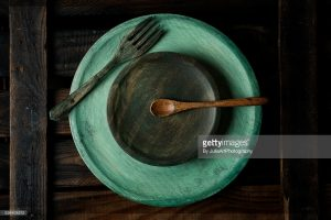 Plates made of good stock image for editorial