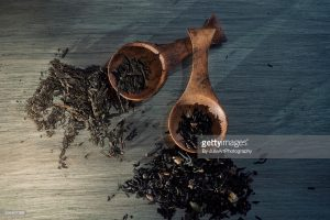 Tea spoons stock photograph